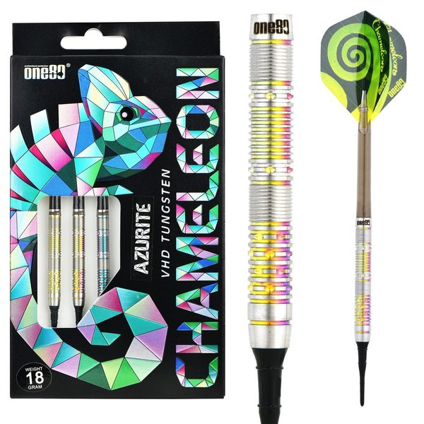 One80 Chameleon Azurite Soft Darts 90%