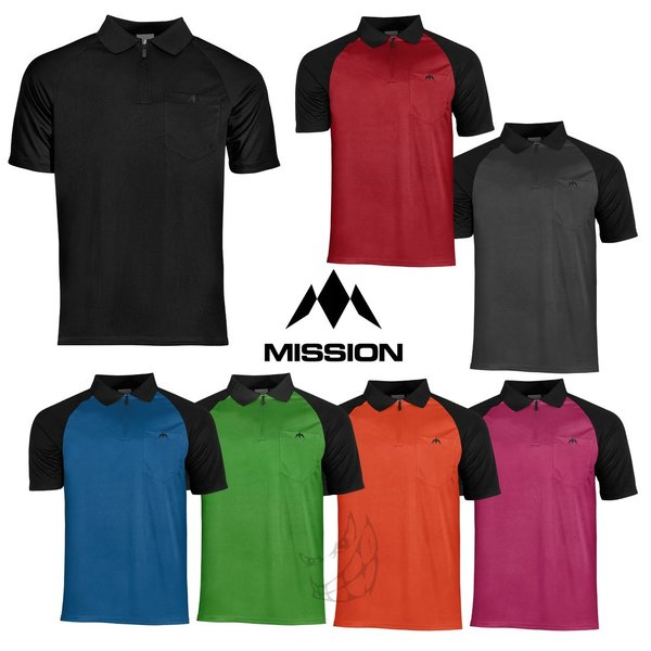 "Mission ""EXOS COOL"" Polo Shirts Front Colour"