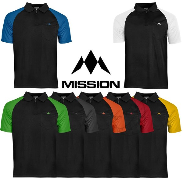"Mission ""EXOS COOL"" Polo Shirts Sleeve Colour"